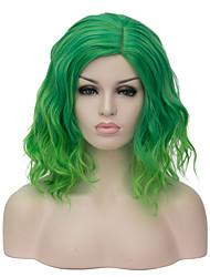 Недорогие -Парики из искусственных волос Стиль Без шапочки-основы Парик Омбре Зеленый Искусственные волосы Жен. Омбре Парик Короткие