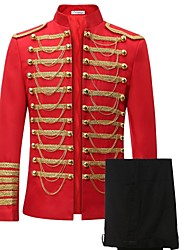 cheap -Prince Suits Victorian Napoleon Jacket Pants Cosplay Costume Blazer Jacket & Pants Tuxedo Men's Lace Costume Black / Red Vintage Cosplay Long Sleeve / Top / Top / Top