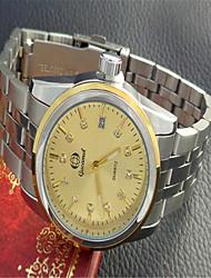 cheap -Men's Fashion Watch Quartz Silver Analog Casual - Gold White