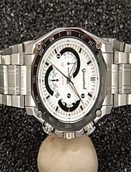 cheap -Men's Fashion Watch Quartz Silver Analog Casual - White Black Coffee