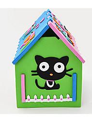 abordables -Puzzles 3D / Puzzle / Jeux Avec Pions en Bois Maison A Faire Soi-Même 1 pcs Enfant Cadeau