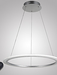 cheap -Circular Pendant Light Ambient Light Electroplated Metal Acrylic Dimmable, LED, Dimmable With Remote Control 110-120V / 220-240V LED Light Source Included / LED Integrated