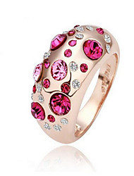 cheap -Ring Crystal Silver Rose Rose Pink Crystal Alloy Ladies Fashion Euramerican One Size / Women's