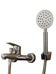 cheap -Contemporary Antique Tub And Shower Widespread Ceramic Valve Two Holes Single Handle Two Holes Stainless Steel, Bathtub Faucet