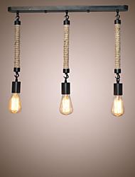 Недорогие -3-Light 57 cm Конструкторы Подвесные лампы Металл кластер Окрашенные отделки Ретро 110-120Вольт / 220-240Вольт