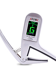 cheap -Professional Electronic Tuners Capos High Class Guitar Acoustic Guitar Ukulele New Instrument Metal Musical Instrument Accessories White