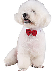 cheap -Cat Dog Tie / Bow Tie Winter Dog Clothes Red Costume Cotton British Classic Cosplay Birthday L