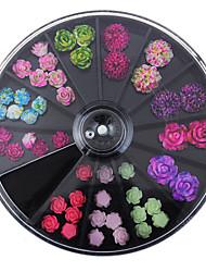 cheap -black-large-size-8-8cm-wheel-49pcs-floral-studs-supplies-for-nails-3d-colorful-resin-flower-design-nail-art-decorations