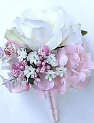 """cheap -Wedding Flowers Boutonnieres Wedding / Party / Evening Satin 9.84""""(Approx.25cm)"""