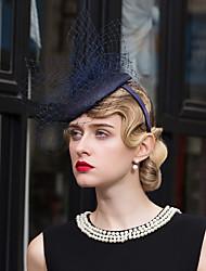 cheap -Flax Net Fascinators Hats Headpiece