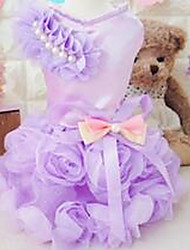 cheap -Dog Shirt / T-Shirt Dog Clothes Princess Purple Pink Cotton Costume For Summer Men's Women's Casual / Daily