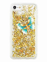 cheap -Case For Apple iPhone 7 Plus / iPhone 7 / iPhone 6s Plus Flowing Liquid / Pattern Back Cover Butterfly / Glitter Shine Soft TPU