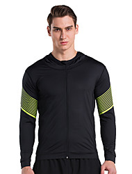 cheap -Vansydical® Men's Fashion Exercise & Fitness Top Long Sleeve Activewear Quick Dry High Elasticity