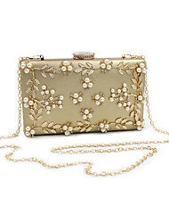 cheap -Women's Rhinestone / Petal / Beading PU Leather Evening Bag Wedding Bags White / Black / Red