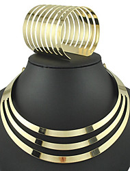 cheap -Women's Bracelet Bangles Collar Necklace Fashion Euramerican Earrings Jewelry Gold / Silver For Party Daily