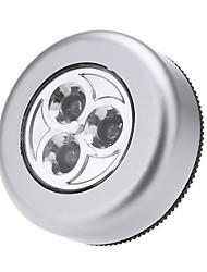 Недорогие -3 светодиодный сенсорный свет кнопка лампа ночь свет автомобиля домашняя стена кемпинг аккумулятор мощности
