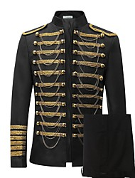 cheap -Prince Cosplay Costume Blazer Jacket & Pants Tuxedo Suits & Blazers Tailcoat Men's Rococo Medieval 18th Century Napoleon Jacket Party Prom Halloween Carnival Festival / Holiday Lace Black / Red Men's