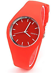 cheap -Women's Fashion Watch Quartz Rubber Band Casual Blue Red Orange
