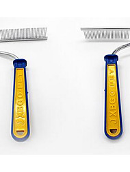 cheap -Dog Grooming Stainless Steel Plastic Comb Portable Pet Grooming Supplies Blue 1