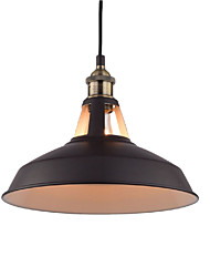 Недорогие -диаметр 30 см старинные подвесные светильники 1-светлый металлический оттенок гостиная столовая прихожая освещение