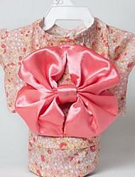 cheap -Dog Tuxedo Dog Clothes Flower Pink Black Silk Fabric Costume For Summer Women's Cosplay Birthday Wedding