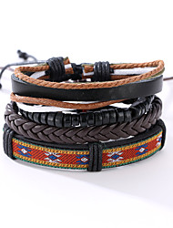 cheap -Men's Leather Bracelet woven Vintage Punk Leather Bracelet Jewelry Black For Christmas Gifts Anniversary Gift Sports Valentine