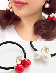 cheap -1 pcs crystal rope cherry hair accessories small express ball fruit hair bands