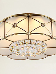 cheap -48 cm Crystal / LED Flush Mount Lights Metal Glass Brass Traditional / Classic 110-120V / 220-240V