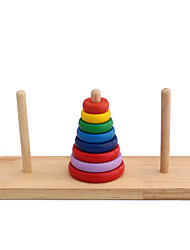 cheap -Danniqite Tower of Hanoi Building Blocks Stacking Game Educational Toy Tower Unisex Toy Gift