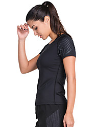 cheap -Vansydical® Women's Fashion Exercise & Fitness Top Short Sleeve Activewear Quick Dry High Elasticity