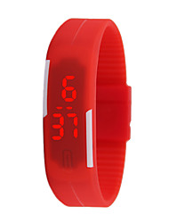 cheap -Women's Men's Unisex Fashion Watch Digital Plastic Band Casual White Red Yellow