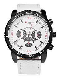 cheap -JUBAOLI Men's Wrist Watch Quartz Oversized Black / White / Blue 30 m Casual Watch Analog Charm Fashion - Black LightBlue Blue