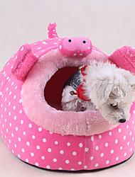 cheap -Soft Dog Clothes Bed Cartoon Red / Green / Pink Cat / Dog