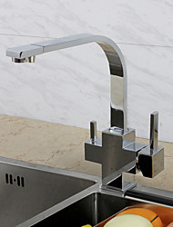 cheap -Kitchen faucet - Single Handle One Hole Chrome Standard Spout / Tall / ­High Arc Centerset Contemporary / Art Deco / Retro / Modern Kitchen Taps