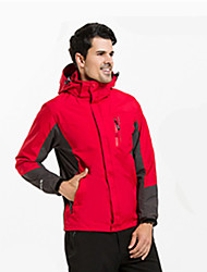 cheap -Men's Hiking 3-in-1 Jackets Outdoor Thermal / Warm Breathable 3-in-1 Jacket Top Camping / Hiking Climbing Blue / Red / Dark Navy / LightBlue / Coffee