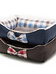 cheap -Cat Dog Mattress Pad Bed Bed Blankets Mats & Pads Fabric Soft Plaid / Check Red Blue