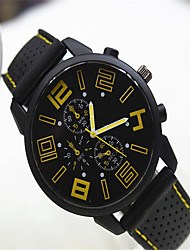 cheap -Men's Fashion Watch Quartz Silicone Band Casual Black