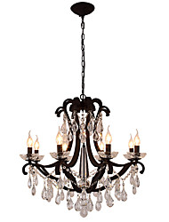 cheap -LightMyself™ 8-Light 74 cm Crystal / LED Chandelier Metal Painted Finishes Modern Contemporary 110-120V / 220-240V