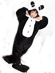 cheap -Kid's Kigurumi Pajamas with Slippers Panda Animal Onesie Pajamas Coral fleece Black / White Cosplay For Boys and Girls Animal Sleepwear Cartoon Festival / Holiday Costumes