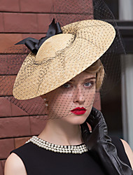 cheap -Basketwork / Net Kentucky Derby Hat / Fascinators / Hats with Flower 1pc Wedding / Special Occasion / Casual Headpiece