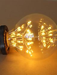 cheap -1pc 3 W LED Filament Bulbs 200 lm E26 / E27 G95 47 LED Beads COB Decorative Starry Warm White 85-265 V / RoHS