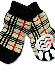 cheap -Cat Dog Socks Birthday Holiday Casual / Daily Plaid / Check For Pets Cotton Rainbow / Summer / Winter