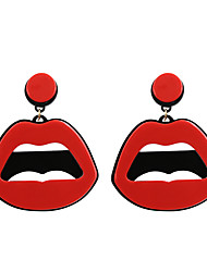 cheap -Women's Drop Earrings Lips Statement Unique Design Acrylic Fashion Earrings Jewelry Red For Wedding Party Daily Casual Sports