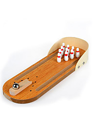 cheap -Board Game Balls Bowling Toy Parent-child Games Wooden 1 pcs Mini Kid's Boys' Girls' Toy Gift