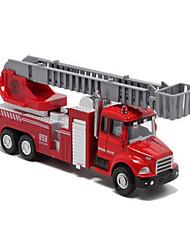 Недорогие -1:60 пластик Пожарная машина Игрушечные грузовики и строительная техника Игрушечные машинки Модели автомобилей Детские Игрушки на солнечных батареях