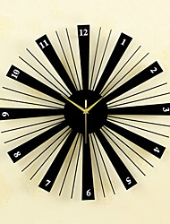 cheap -Casual / Modern Contemporary / Retro Wood / Glass / Metal Round Novelty / Characters / Holiday Indoor / Outdoor AA Decoration Wall Clock Analog No