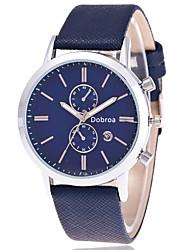 cheap -Men's Wrist Watch Quartz Leather Multi-Colored Hot Sale Analog Charm Classic Fashion - Coffee Blue Black / White