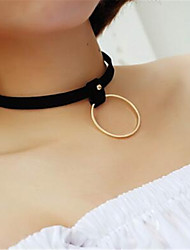 cheap -Choker Necklace Necklace Tattoo Choker Necklace Solid Color Vintage Lace Up Victorian Velvet Chiffon Metal Alloy Lace Polyester For Event / Party Prom Women's Girls' Costume Jewelry Fashion Jewelry