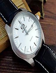 cheap -Men's Fashion Watch Quartz Leather Black Analog Casual - White Black