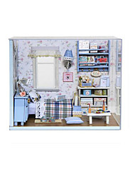 cheap -Dollhouse Model Building Kit DIY Furniture House Wooden Classic Girls' Toy Gift
